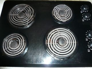 Black Maytag Electric Cooktop Range Stove Countertop