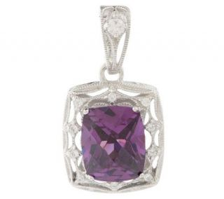 Tacori IV Diamonique Epiphany Simulated Amethyst Enhanc —