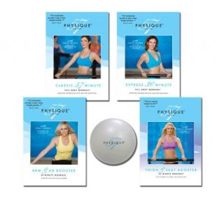 Physique 57 Complete Body Workout with 4 DVDs & Fitness Ball