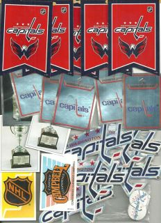 20 NHL Washington Capitals Stickers and 2 mini blades and 200 mini