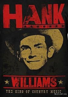 Hank Williams SR Country Blues Rock T Shirt M L XL NWT