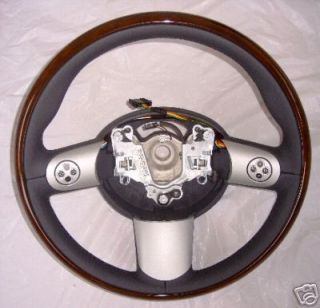Mini Cooper Euro Wooden Steering Wheel with Buttons New
