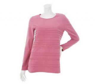 Liz Claiborne New York Long Sleeve T Shirt w/Lace Detail   A229458