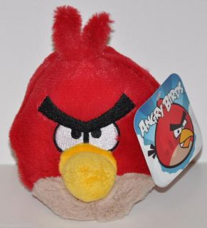 Angry Birds 5 Plush Red Bird Commonwealth Toy Licensed