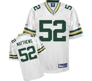 NFL Green Bay Packers Clay Matthews Youth Replica White Jersey