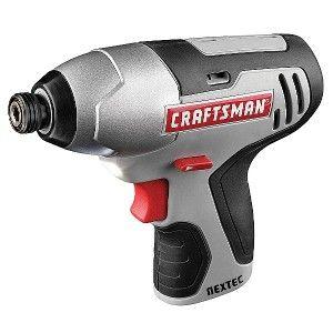 craftsman nextec 12 volt cordless impact driver tool