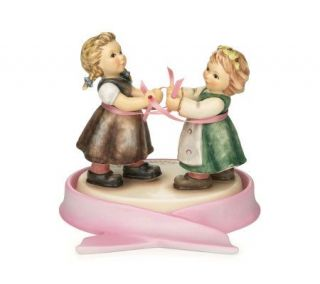 Hummel Joy of Hope Figurine with Pink Ribbon Base —