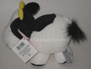 New Black White Russ Cow 8 Plush Plump Boys Stuffed Animal Cuddle Toy