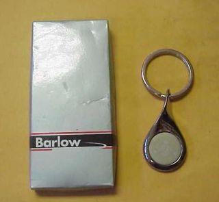 Barlow Courvoisier Cognac Silvertone Key Ring Fob New