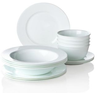 Corelle for Joy Mangano Strokes of Color 16 Piece Premier Dinnerware