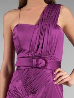 foley corinna silk jersey asymmetric dress large