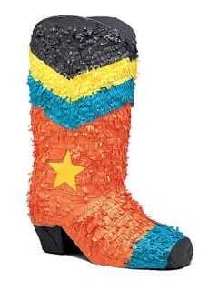 Cowboy Boot Wild West Western Party Large Pinata