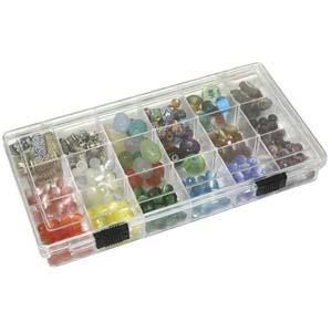 Craft Bead Finding Storage Box Organizer Cases 18 Slots
