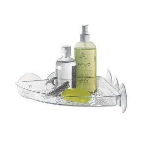 Large Suction Corner Shelf Clear New Caddies Shower Accessories