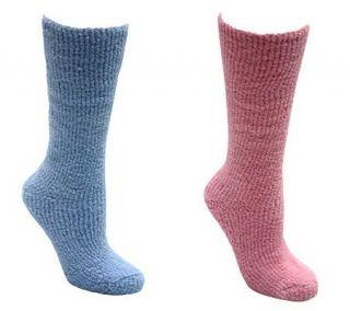 Muk Luks Womens Micro Chenille Knee High Socks —