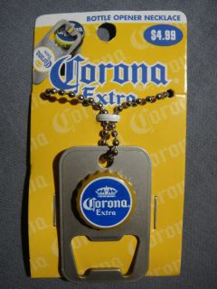 Corona Beer Dog Tag Bottle Opener Cerveza Works with Heineken Crown