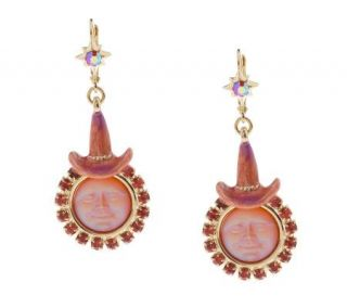 Kirks Folly Seaview Moon Witch Lever Back Earrings   J151663