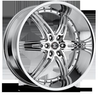 26 Inch 6x135 Chrome 2 Crave No 16 Wheels Rims 6 Lug Ford F150