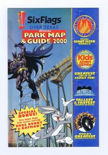 Six Flags Over Texas Official Park Map & Guide 2000 Promo Comic Book