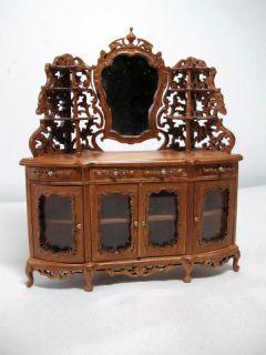 Miniature Famous Furniture 6705 Walnut Finish Victorian Side Board
