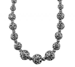 Carolyn Pollack Sterling Signature Bead 17L Necklace   J312270