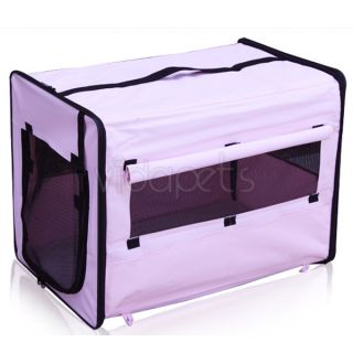 24 Pink EZ Soft Travel Dog Crate Cage Kennel Carrier House