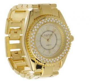 Joan Rivers Fashion Color Plated Crystal Link Watch —