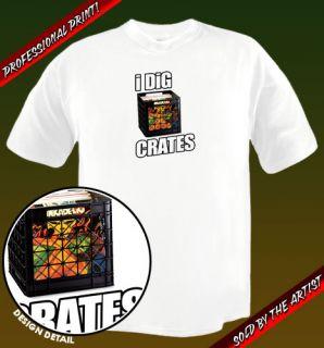 Dig Crates Original Art Vinyl Record Audiophile Shirt