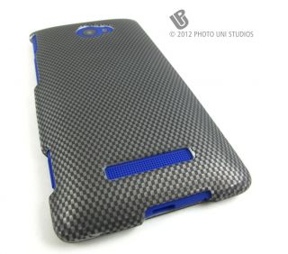 Carbon Fiber Design Hard Snap on Case Cover HTC Windows Phone 8x