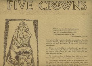 five crowns restaurant menu corona del mar ca 1970