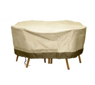 Sure Fit Deluxe Round Table & Chair Set Cover —