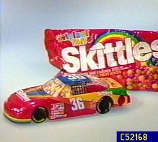Skittles Brand NASCAR Race Car Candy Dispenser with Candy —