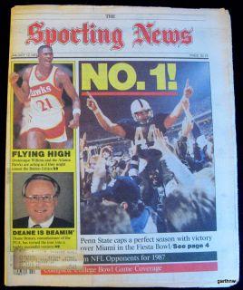 Penn State Football 1986 National Championship Victory Sporting News