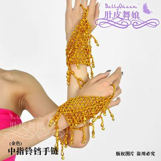 Belly Dance Belly Costume Accessory Bracelets 1 Pair Handmade 2 Colors