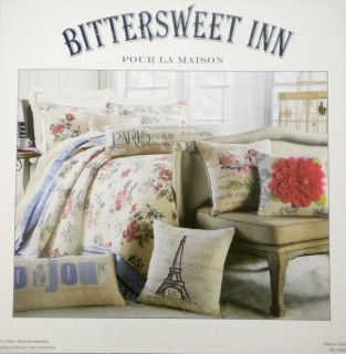 French Country 3pc King Quilt Set Shabby Cottage Chic Floral