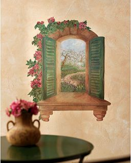 Great Sonoma Cottage View Window Wall Murals Wallies Decal Sticker