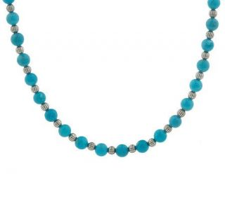 Roderick Tenorio Sterling Turquoise Bead Necklace —