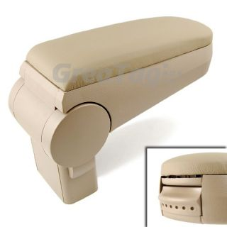 Interior Cabin Armrest Console Beige Leather Fabric VW Polo