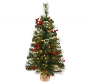 36 Siegal Berry Pine Tree w/ Clear Lights by Vickerman —