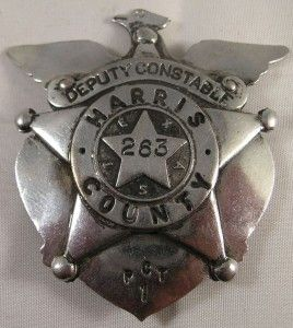 obsolete police badge deputy constable harris county