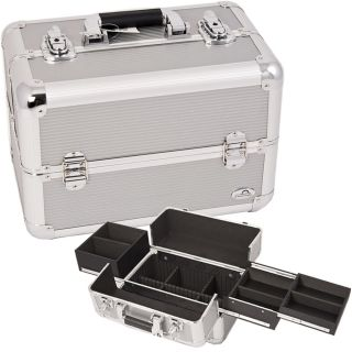 Pro Makeup Cosmetic Train Case Aluminum Kit Bag Box AB1