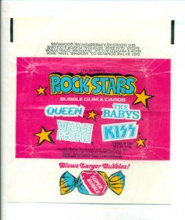 1979 Donruss Rock Stars KISS Queen Village People Trading Cards wax