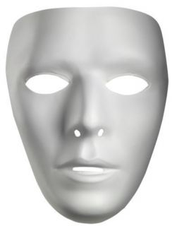 Blank Male Phantom Mask Costume Face New White Mask Paintable Paint