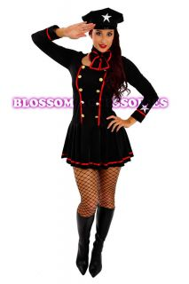 Gun Captain Pilot Officer Fancy Dress Army Air Hostess Costume
