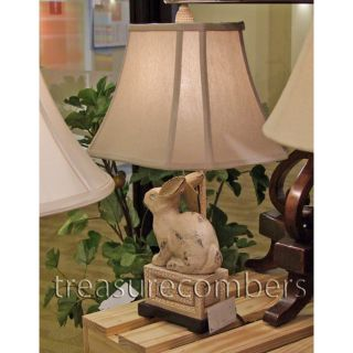 Rabbit Table Lamp French Country Tuscan Old World