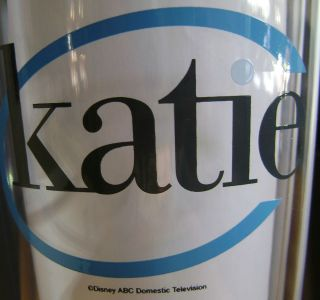 Katie Couric Logo Talk Show 20 oz Drink Glass NEW ABC Network TV