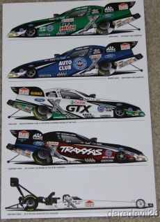 2012 John Force Courtney Force Robert Hight Ford Mustang Funny Car