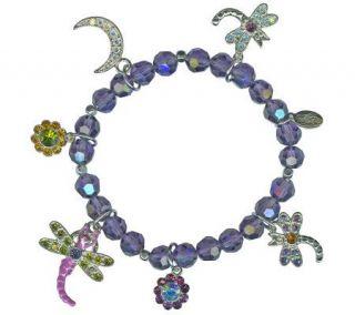Kirks Folly Dragonfly Desire Stretch Bracelet —