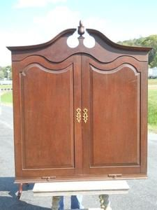 Antique Chippendale Handmade Blind Front Secretary Desk Top 18th C