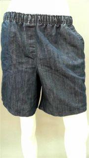 Covington Misses Womens s Stretch Knee Shorts Jean Blue Denim Designer